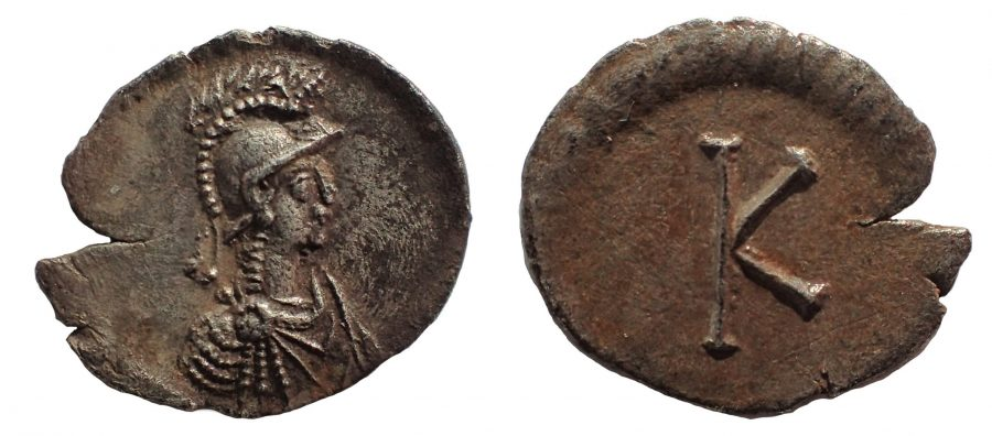 Anonymous, time of Justinian I, circa 530. Half Siliqua