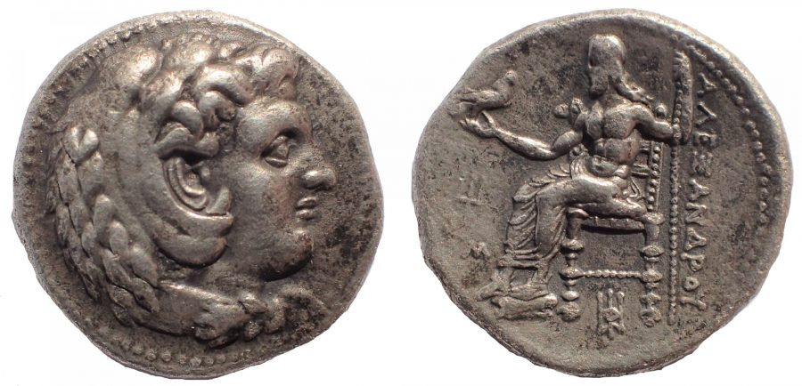 Alexander III the Great (336-323 BC). AR tetradrachm. Lifetime issue of Babylon