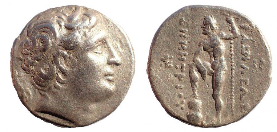 Kings of Macedon. Pella. Demetrios I Poliorketes 306-283 BC. Ar Tetradrachm.