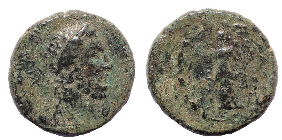 Seleukid Kings. Antiochos IV Epiphanes. 175-164 BC. Æ 16. Mallos mint. Very Rare.