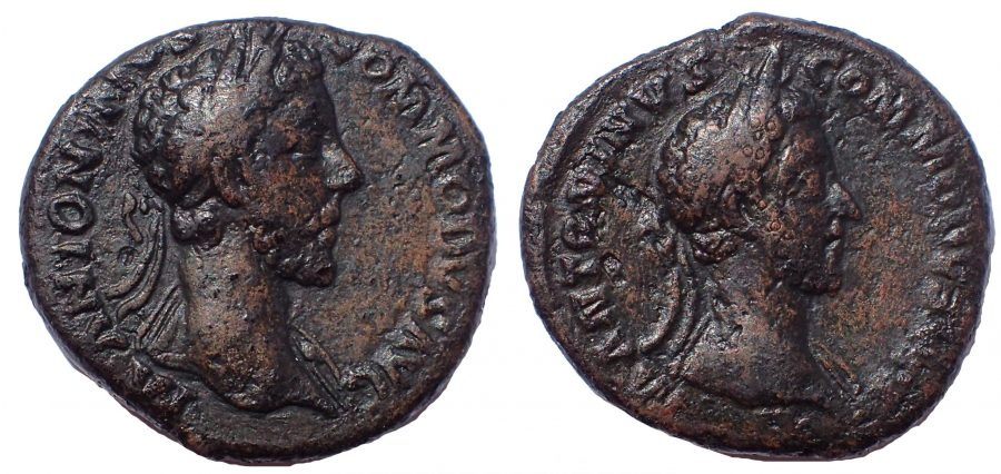 Commodus (AD 177-192). AE As. Unpublished.