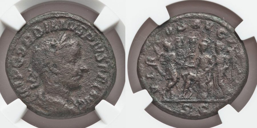Gordian III (AD 238-244). AE As. Very Rare.