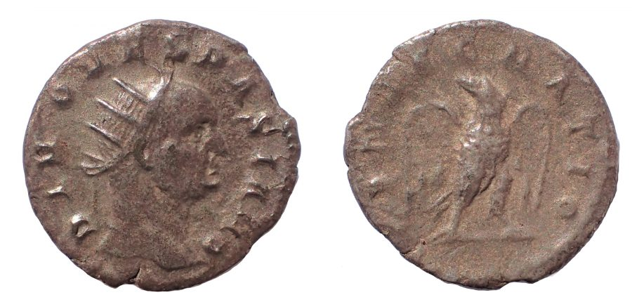 Divus Vespasian (died AD 79). AR Antoninianus. c. 244-251