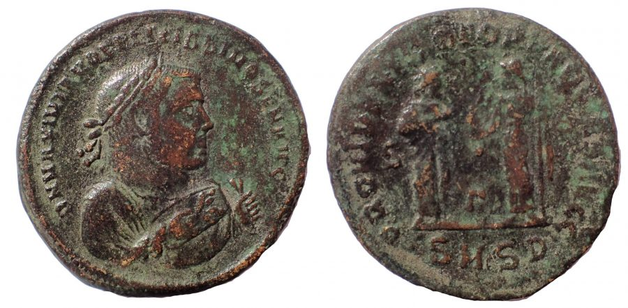 Maximianus, as Senior Augustus. 285-305 AD. Æ Follis. Abdication issue. Very Rare.
