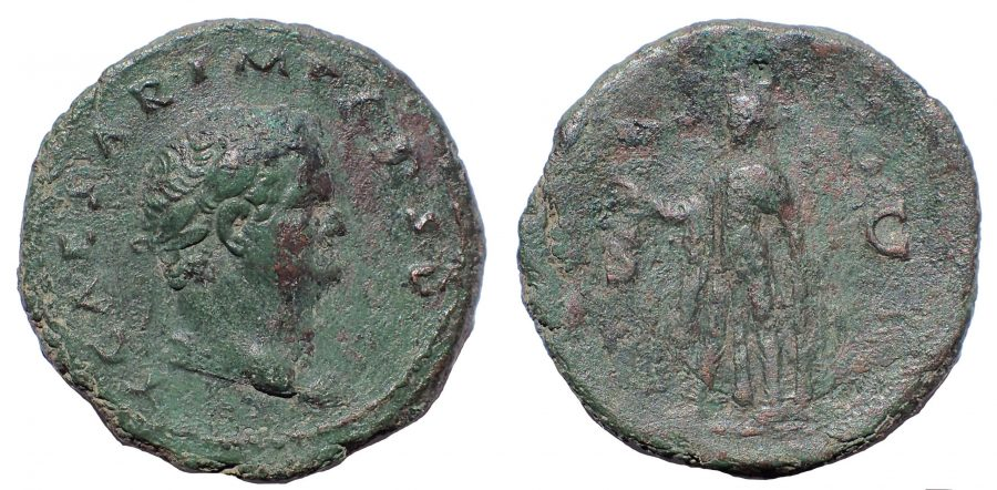 Titus. As Caesar, AD 69-79. Æ As. Spes.