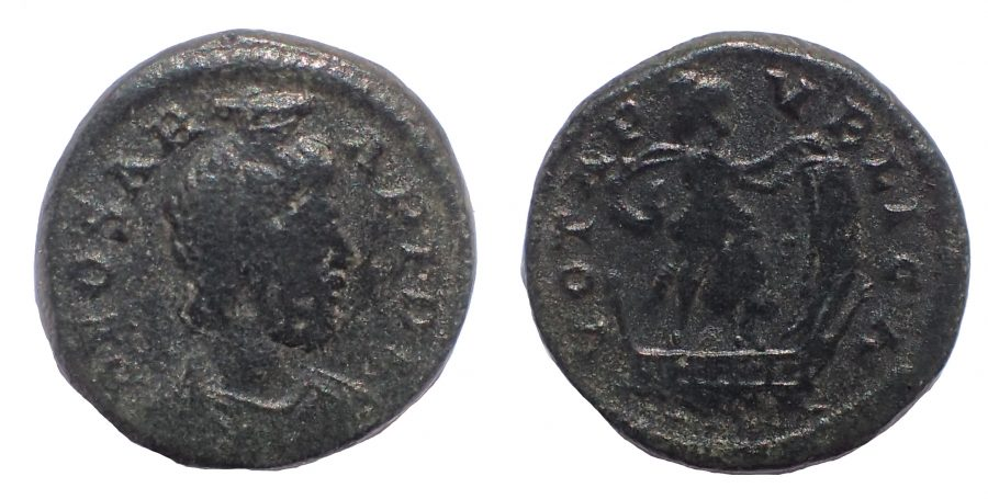 Festival of Isis, mid 4th century. Æ 14. Very Rare.