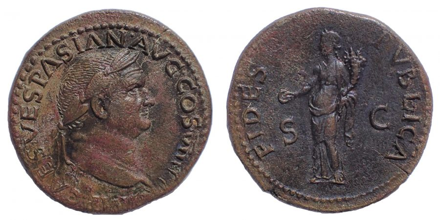 Vespasian. AD 69-79. Æ Dupondius.