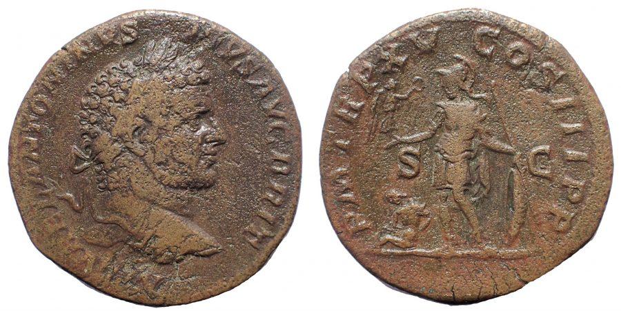 Caracalla Sestertius. Rare.