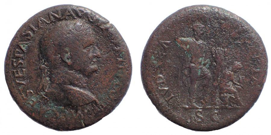 Vespasian Æ Sestertius. JUDAEA CAPTA