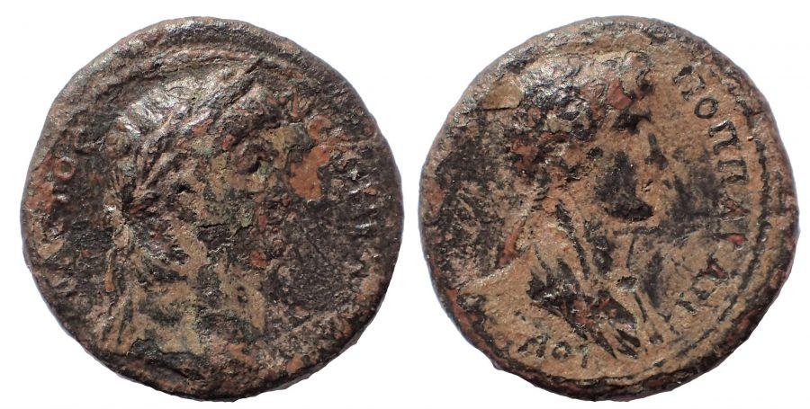Galatia. Koinon of Galatia. Nero and Poppaea AD 54-68. Æ 19.