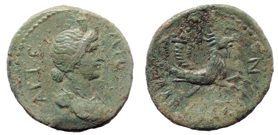 Caria. Alabanda. AD 138-192. Time of the Antonines. Æ 18. Rare.