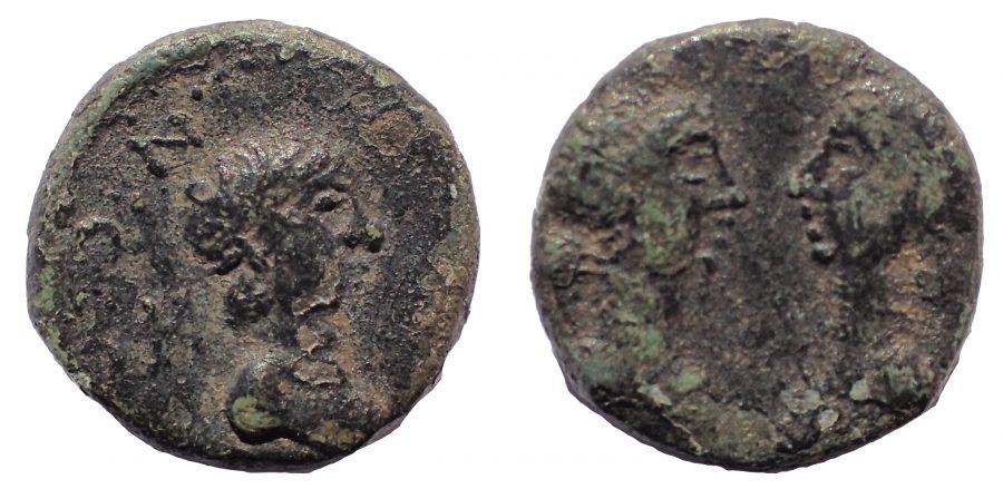 Mysia. Kyzikos. Britannicus with Antonia and Octavia AD 41-55. Æ 12