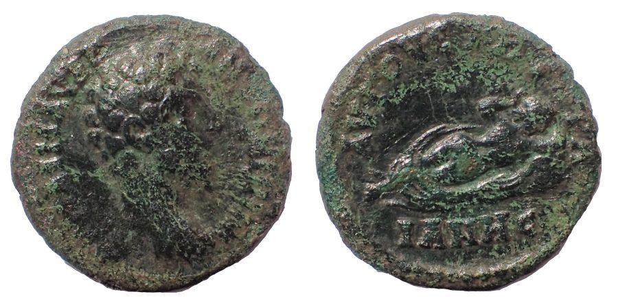Thrace. Augusta Traiana. Marcus Aurelius (161-180). Ae 19. Hermaphrodite. Very rare.