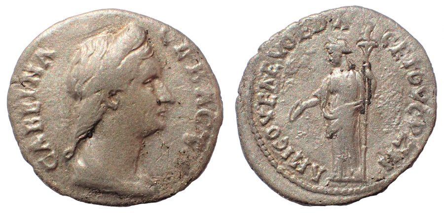 Pontus. Amisus. Sabina (Augusta, 128-137). Ar Drachm. Rare.