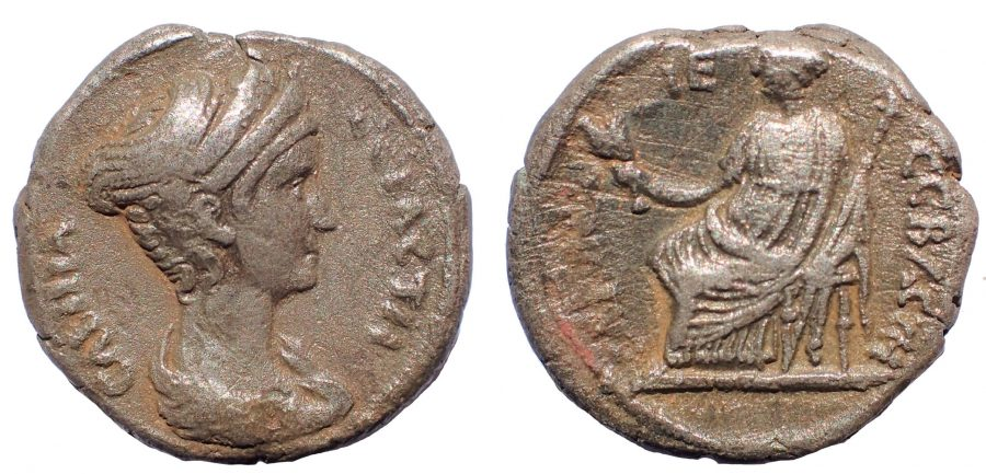 Egypt, Alexandria. Sabina, wife of Hadrian Tetradrachm. circa 130-131 (year 15) Rare.
