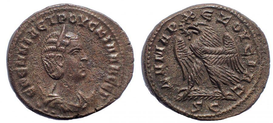 Seleucis and Pieria. Antioch. Herennia Etruscilla, wife of Trajan Decius. Tetradrachm. Rare.