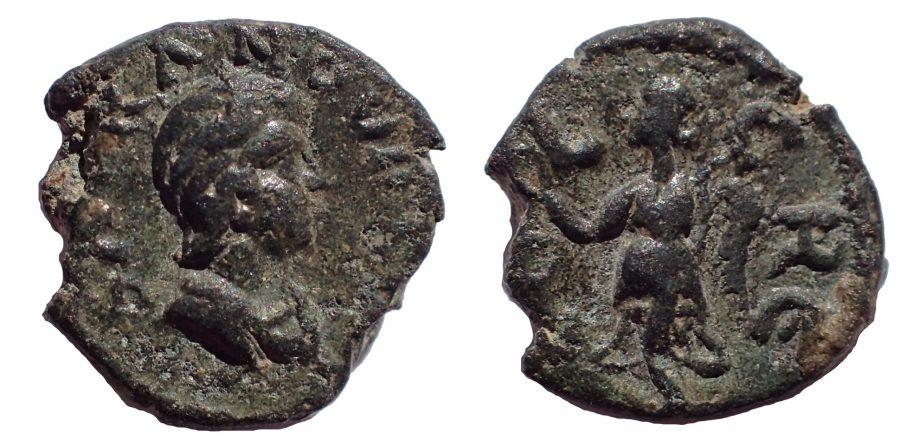 Pisidia, Cremna. Tranquillina. AD 238-244, Ae 11. Very Rare.