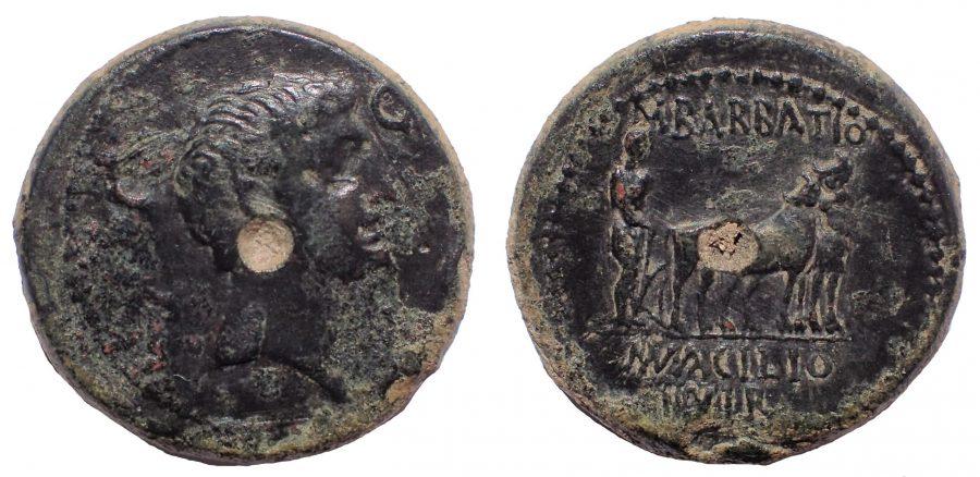 Mysia, Parium, Augustus, Ae 24. Very Rare.