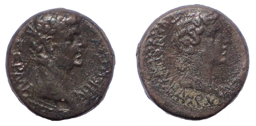 Phrygia, Aezanis. Germanicus, with Agrippina Senior. Died AD 19 and AD 33 respectively. Æ 16
