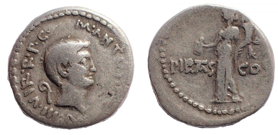 The Triumvirs. Mark Antony. Early 41 BC. AR Denarius