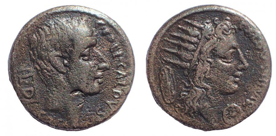C. Coelius Caldus 104 BC. Ar. Denarius. Rare.